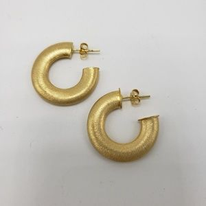 Banana Republic Brushed Gold Hoop Earrings